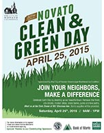 Sign-up now for Novato Clean & Green Day
