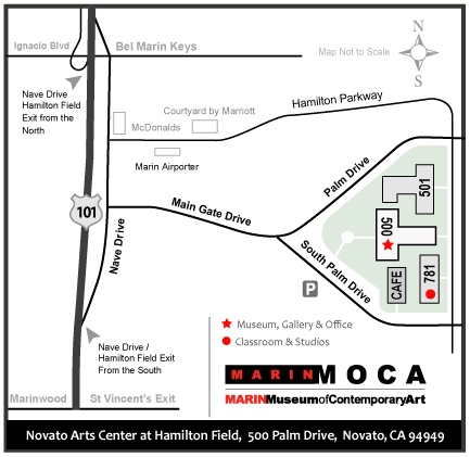 Novato Arts Center at Hamilton Field Map
