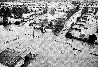 Downtown Novato During 1982 Flooding