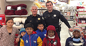 photo of Police Chief with kids