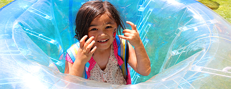 Picture of Girl in Bubble