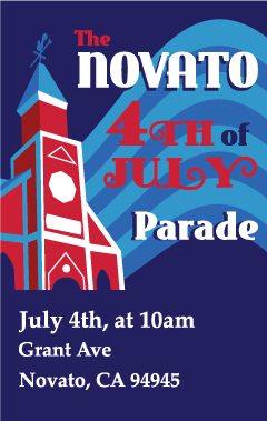 Image of the Novato 4th of July Parade logo