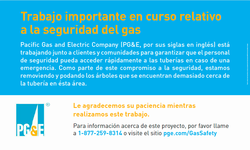 PG&E_Gas Safety Work flier in Spanish