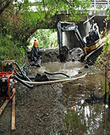 image of creek dredging