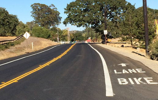 photo of Olive Avenue after bike lanes