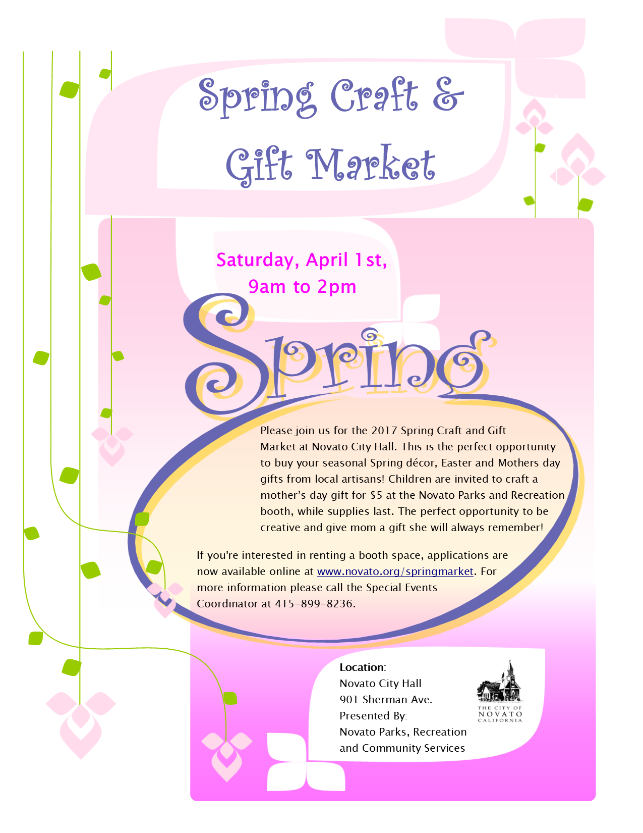 Spring Craft & Gift Market Flyer