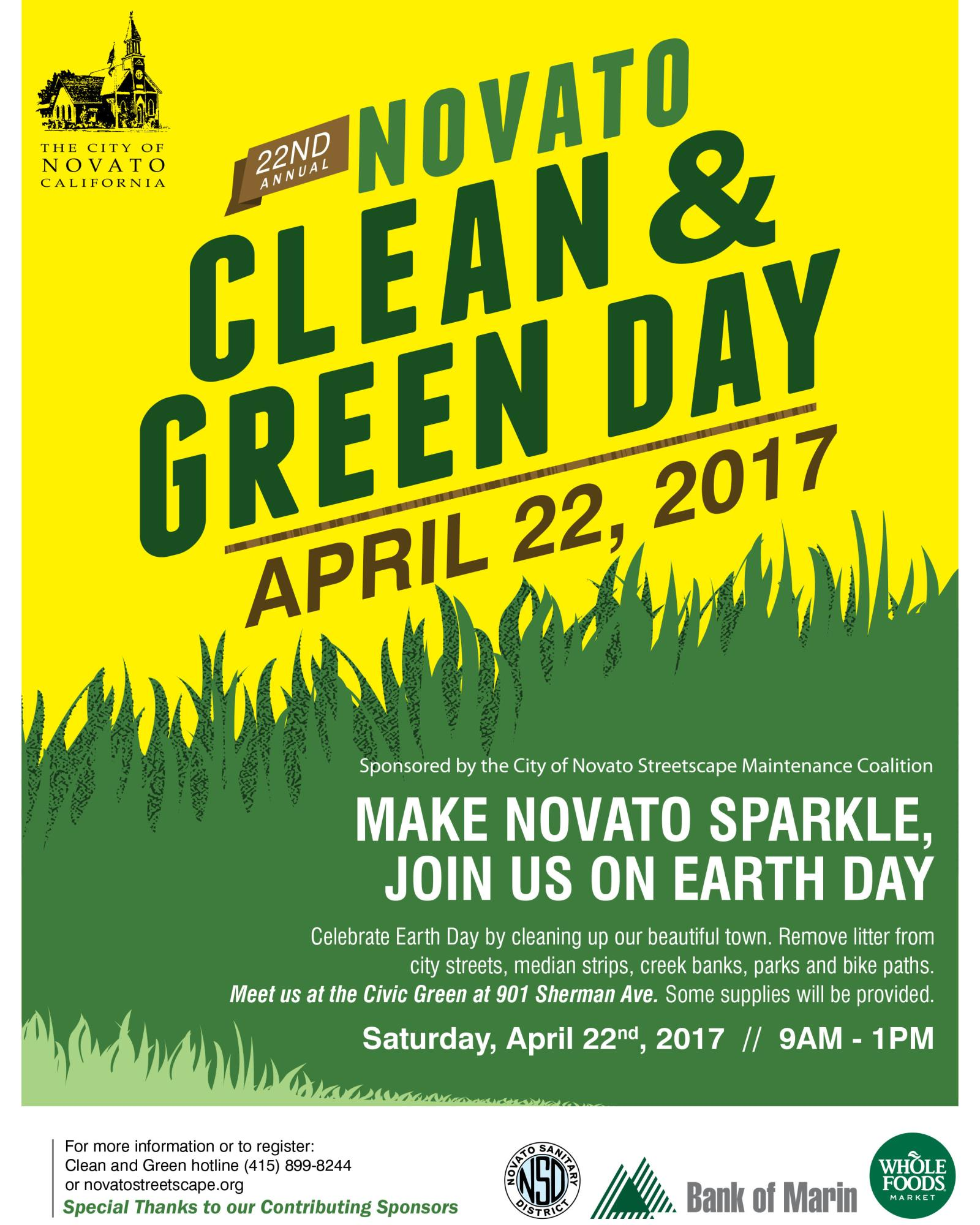 Clean and Green Day flyer in english