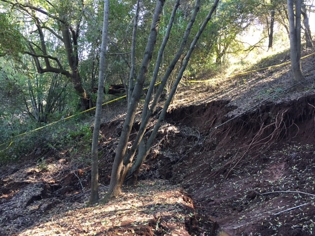 Image of Miwok Trail landslide