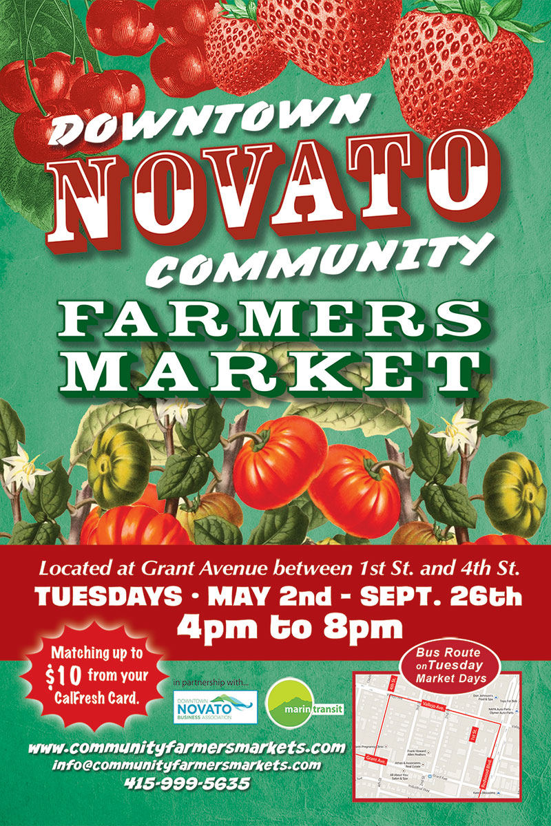 Image of Downtown Novato Community Farmers Market flyer