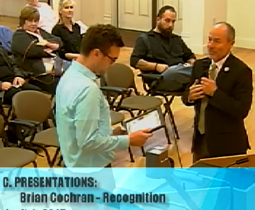 Image of Brian Cochran at City Council Meeting