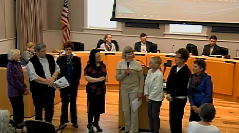 photo of streetscape committee members at council meeting
