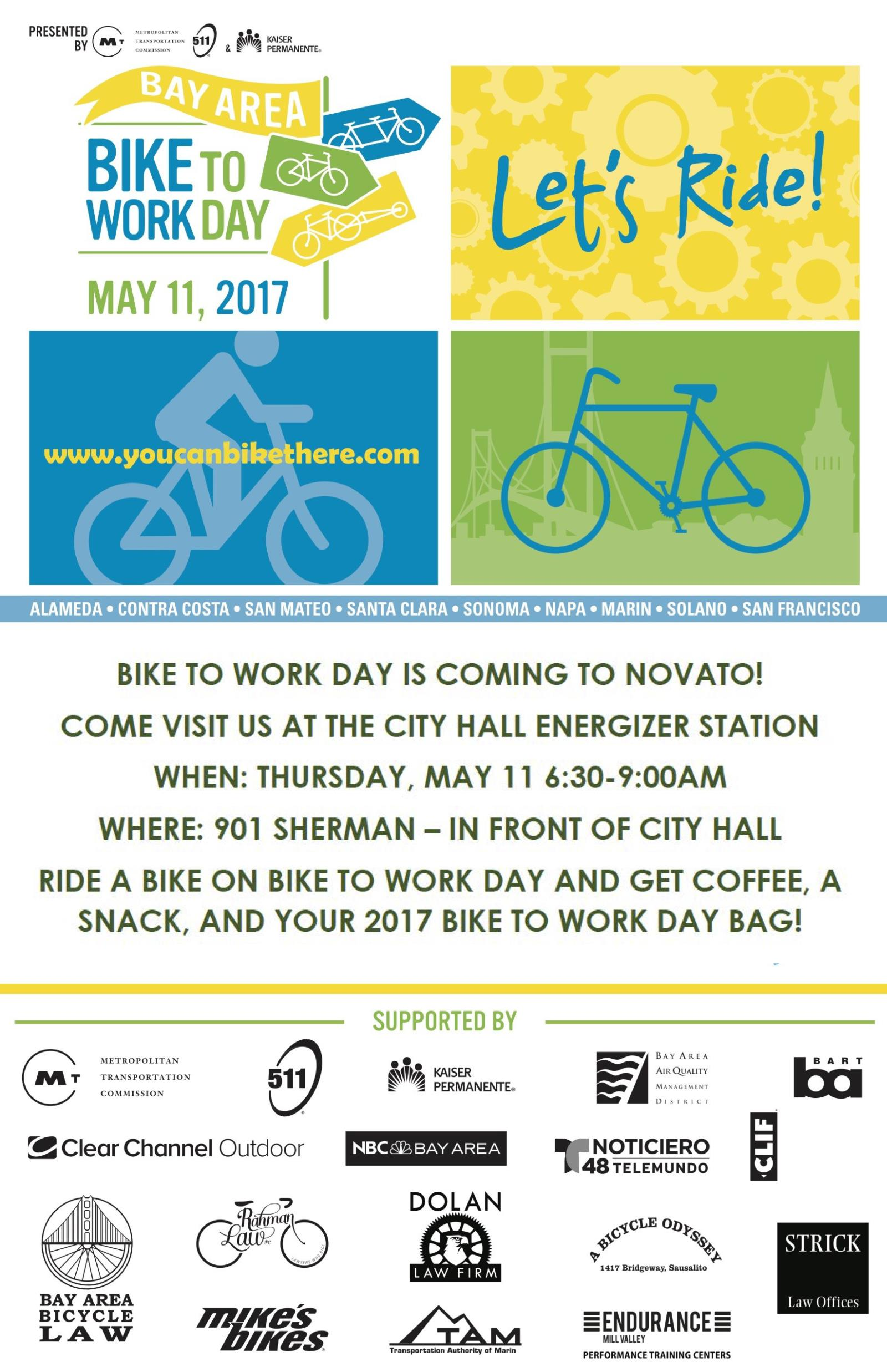image of bike to work day flyer