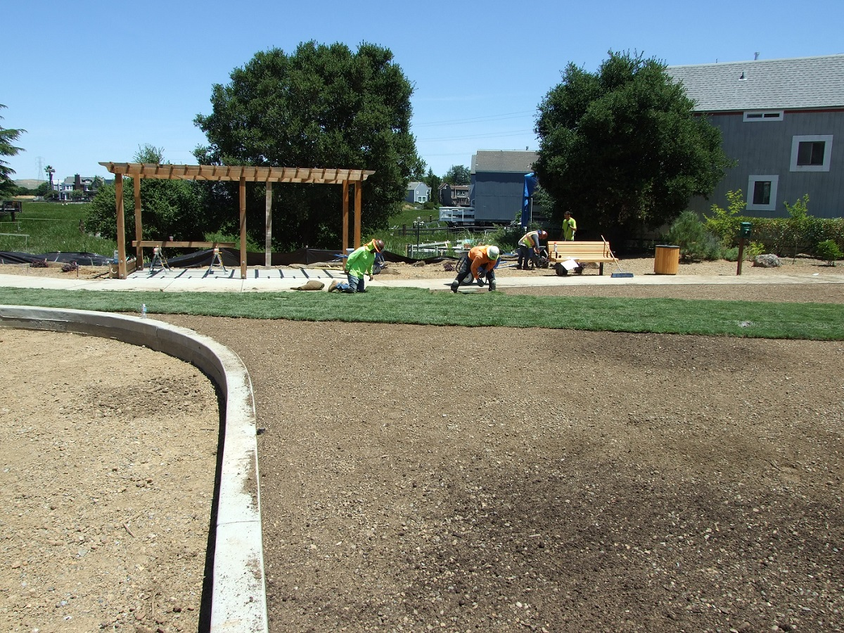New grassy play area in the works