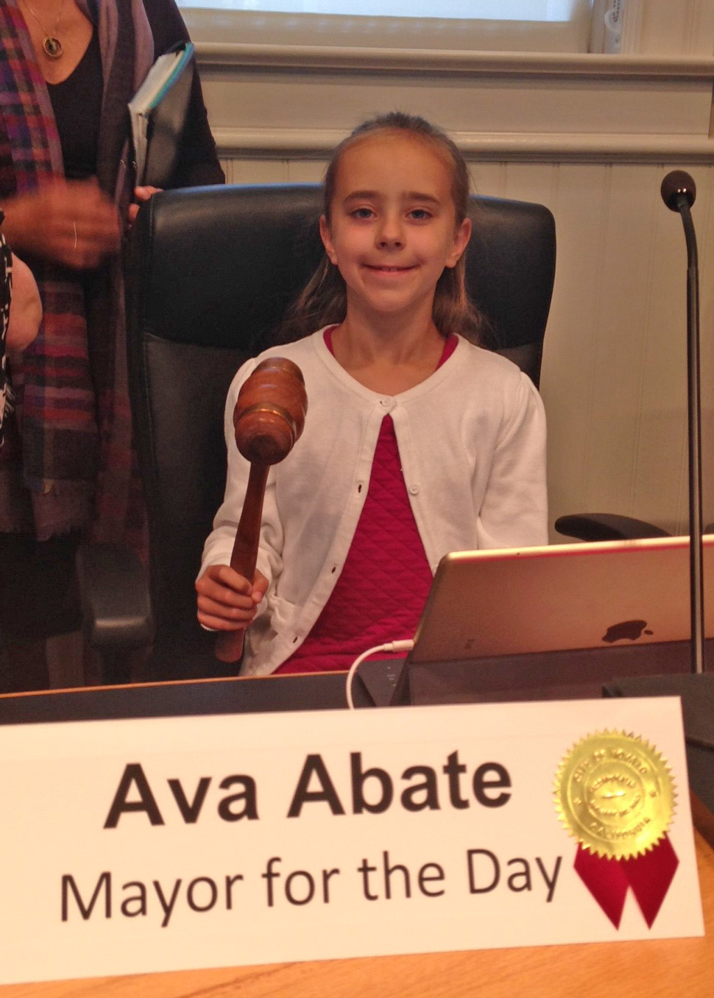 photo of Ava Abate Mayor for a Day