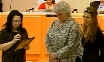 image of mayor presenting proclamation