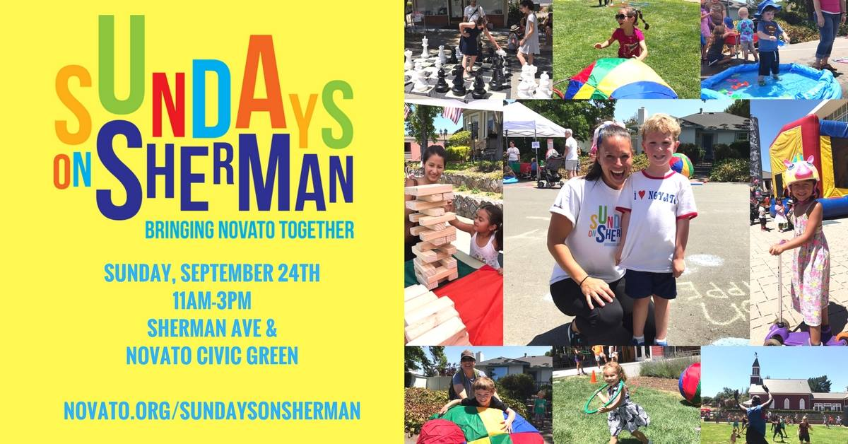Image of sundays on sherman flyer and photos from previous events
