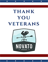 Image of Novato Proud logo with the words