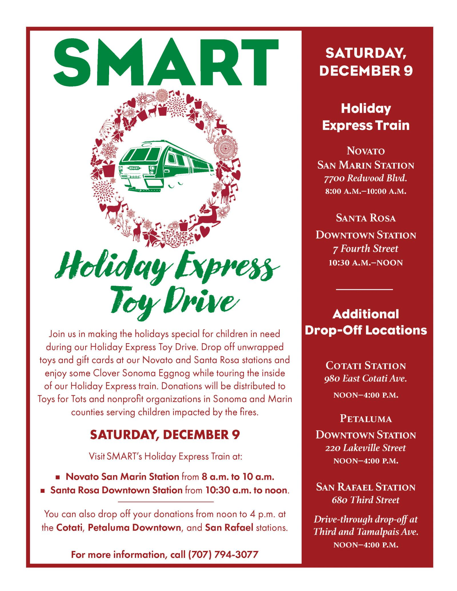 Image of holiday express flyer