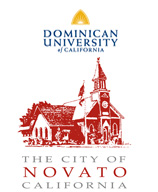 image of dominican university logo and city of novato logo
