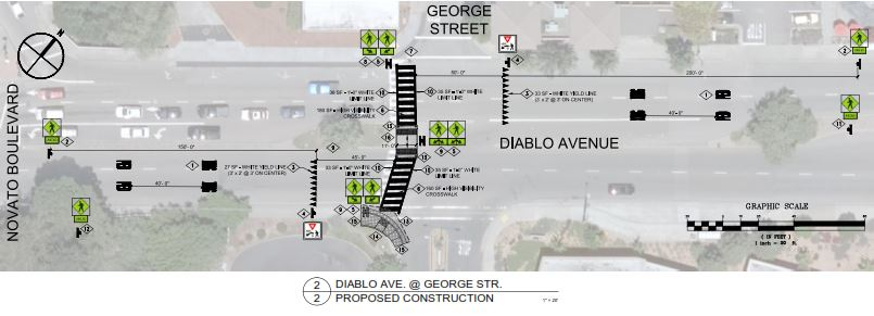 Crosswalk Enhancements - Diablo at George