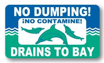 No dumping drains to bay!