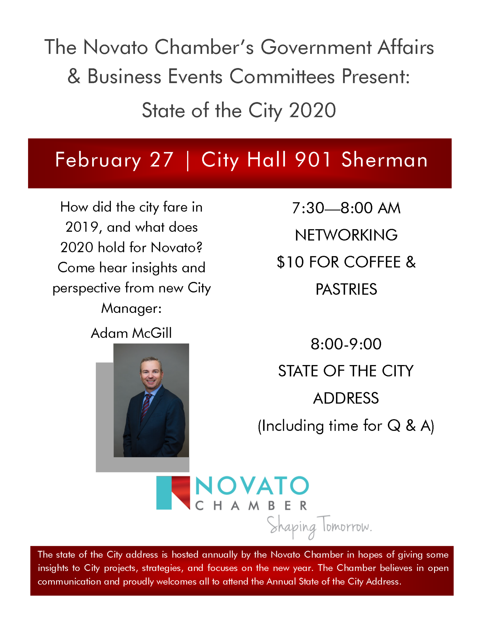 State of the City Event Flyer