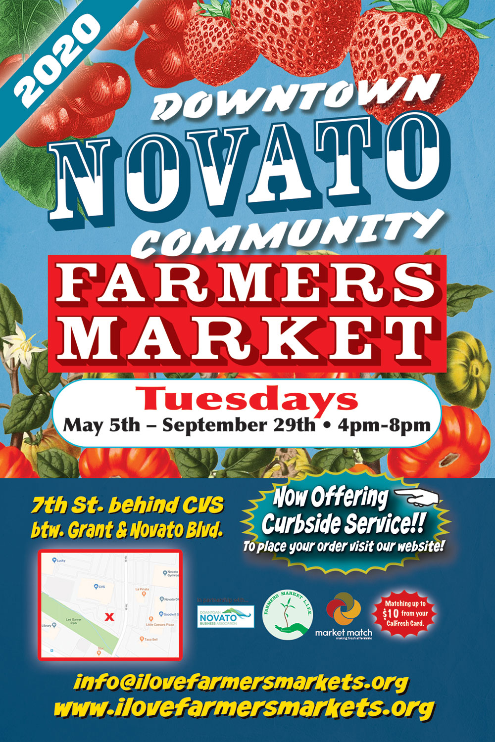 Image of Novato Farmers Market 2020 Poster