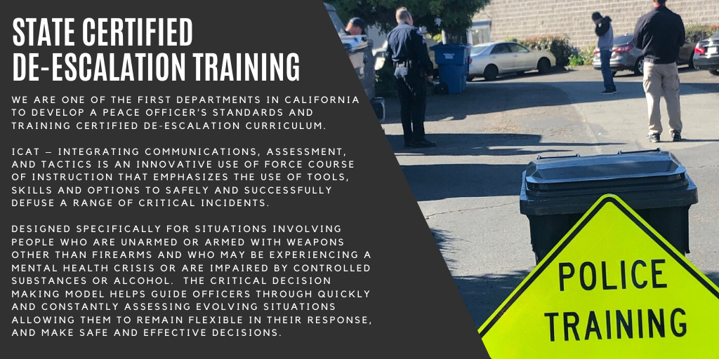 State Certified De-Escalation Training