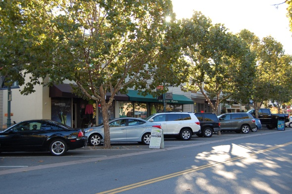 Photo of downtown Novato parking
