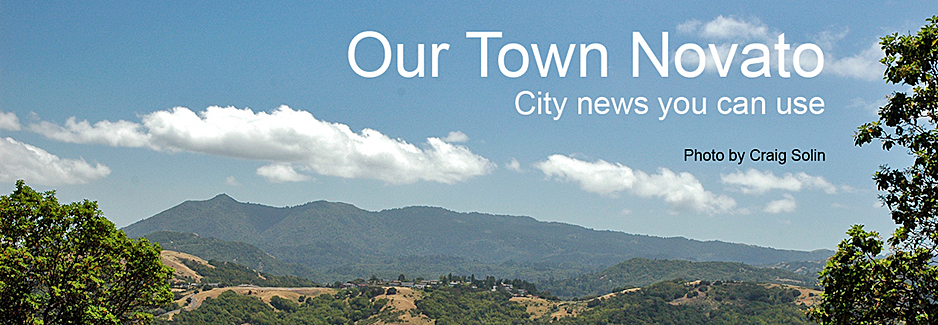 "Image of Novato hills with the words ""Our Town Novato, City news you can use"" photo by Craig Solin"
