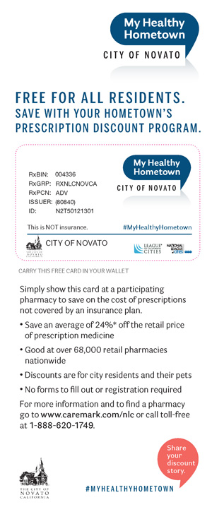 City of Novato, CA_English MHH Card