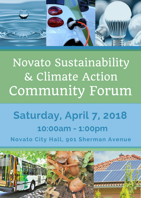 Image of Novato Sustainability & Climate Action Forum event flyer