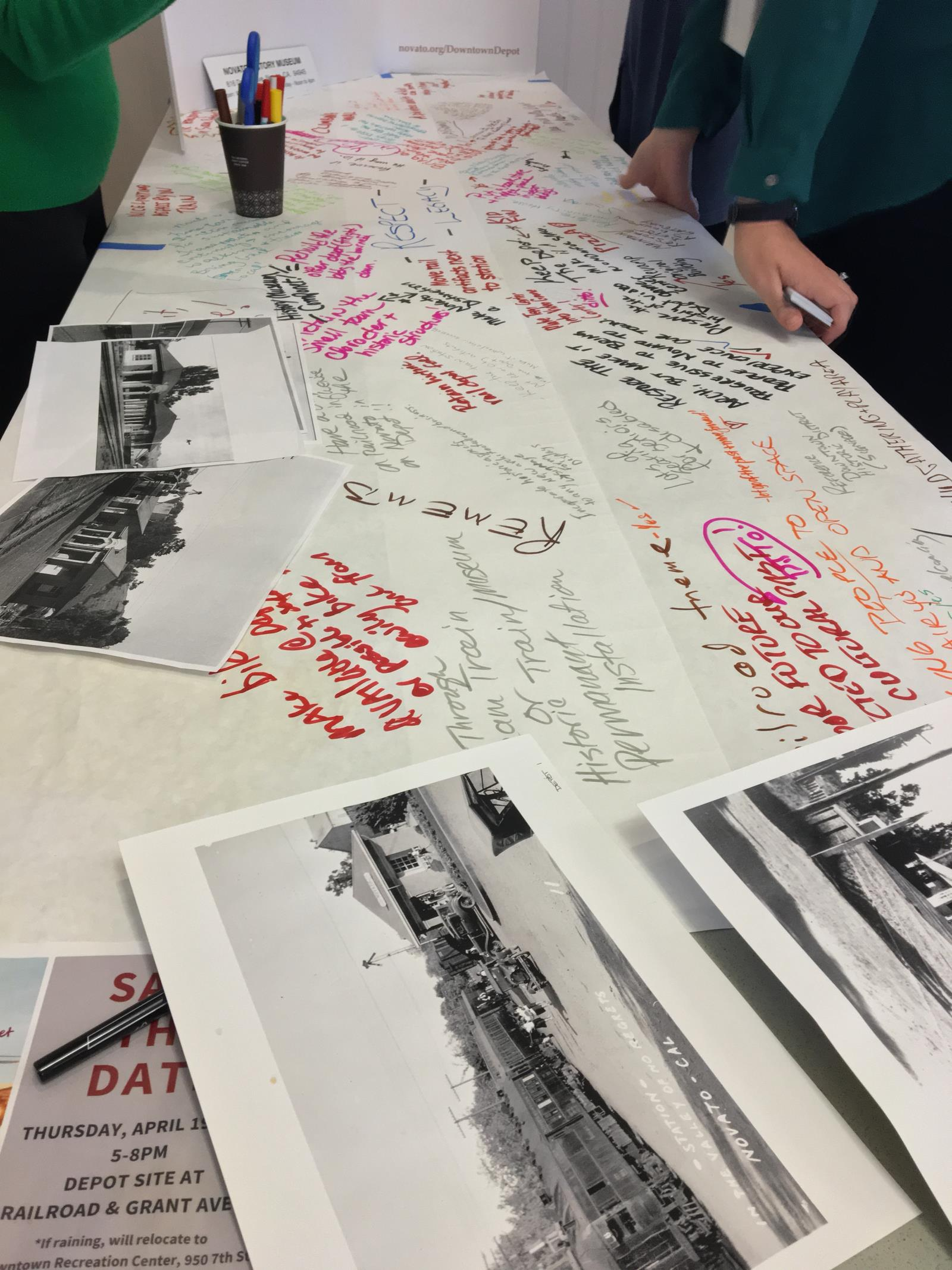 Community input at the Historic table