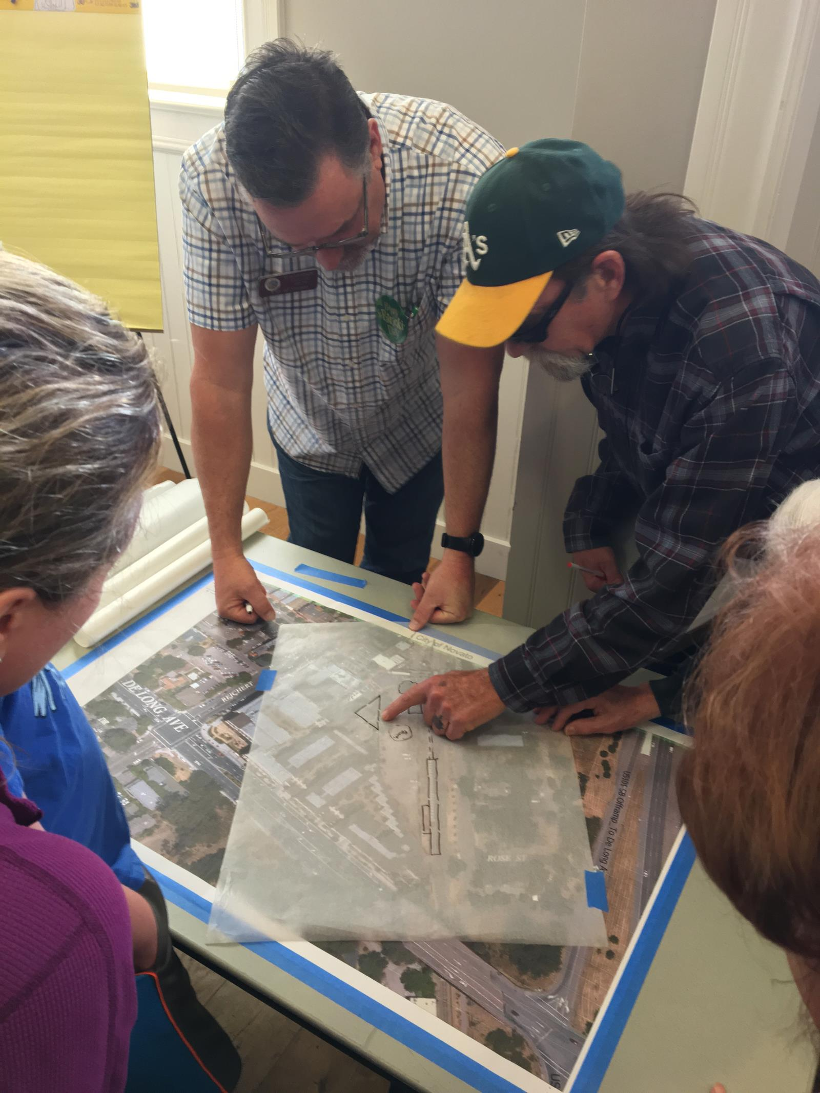 Community members brainstorming with Public Works Director Russ Thompson
