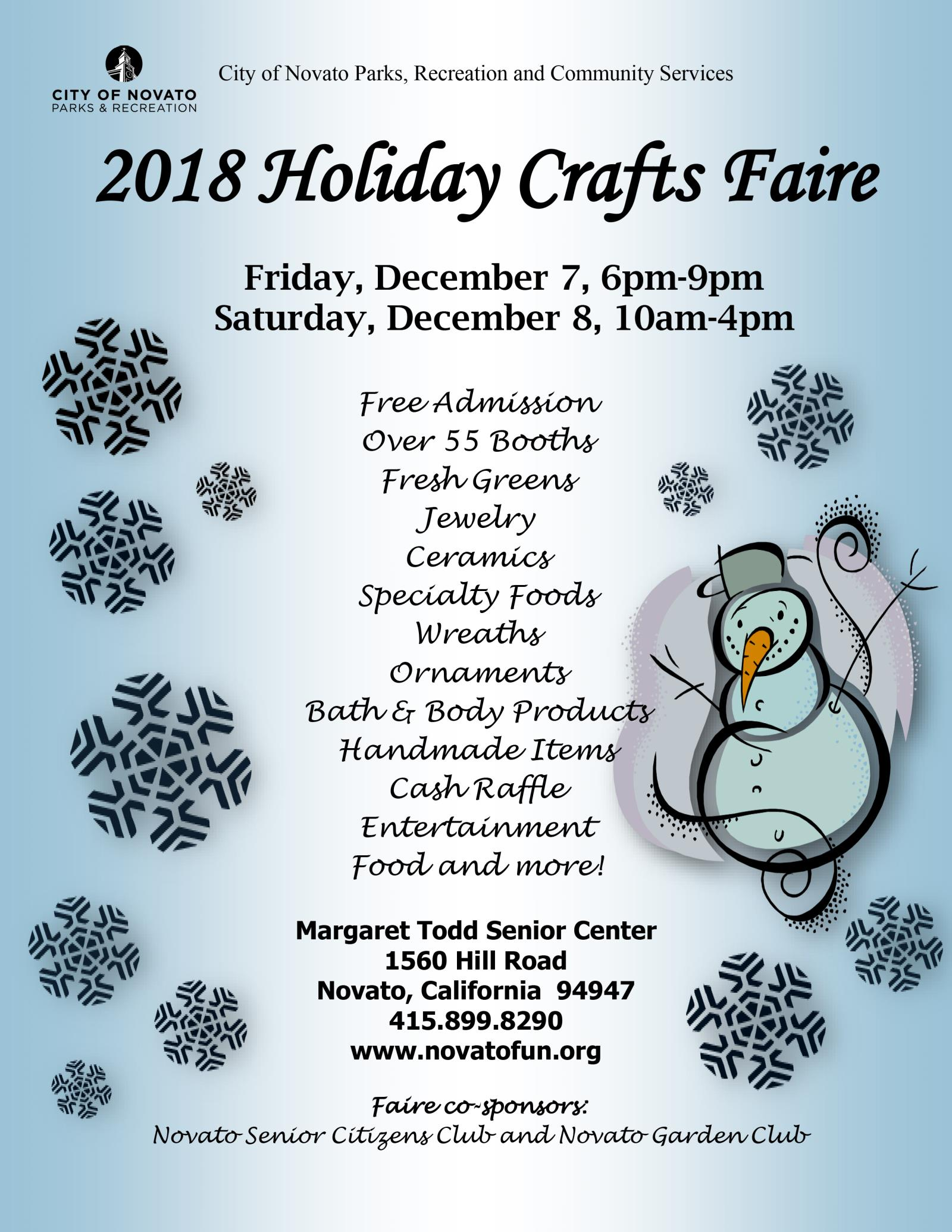 2018 Crafts Faire Flyer