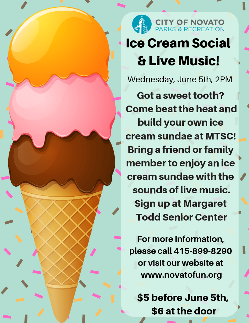 2019 Ice Cream Social Flyer