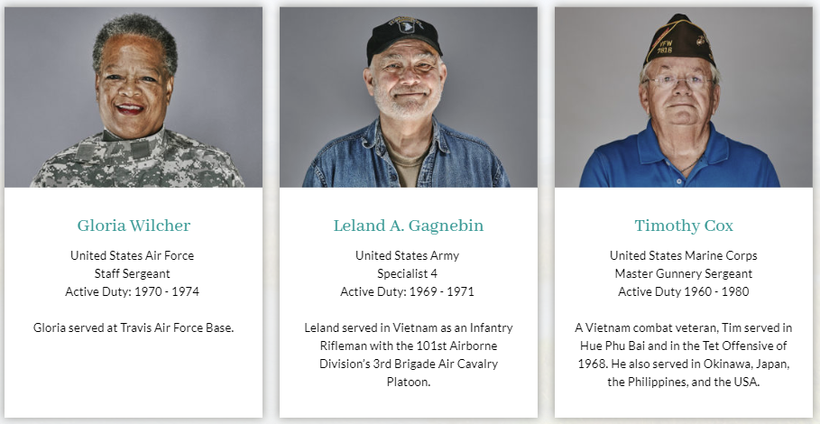 photos of three novato veterans