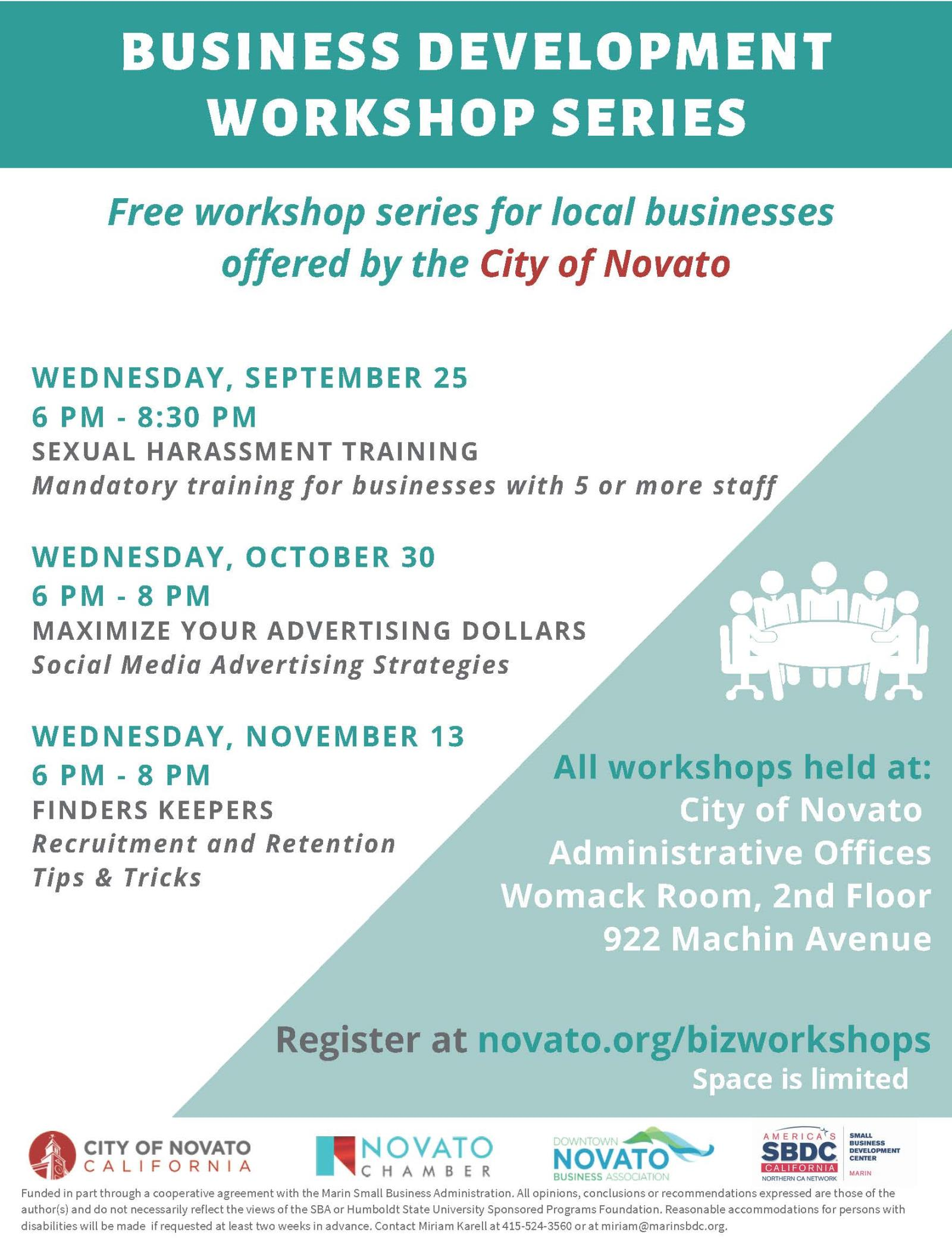 Small Business Workshops Flyer Image