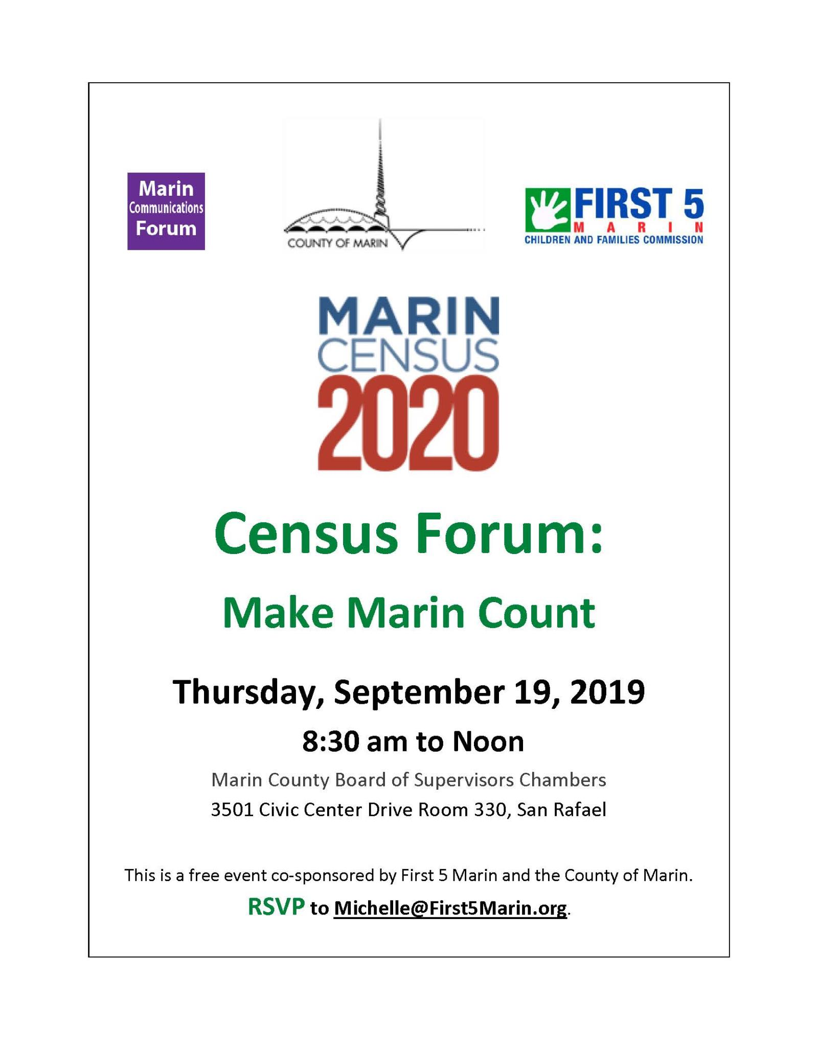 Image of Census 2020 Flyer with link to PDF