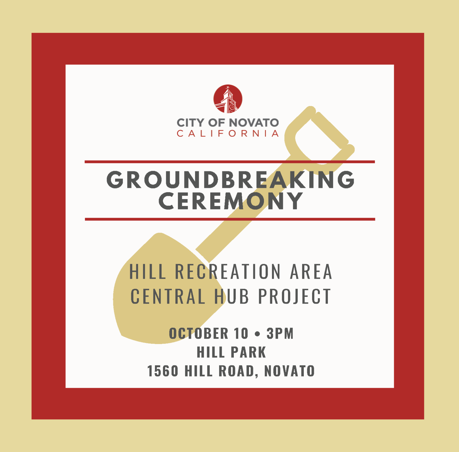 Image of Hill Groundbreaking ceremony announcement