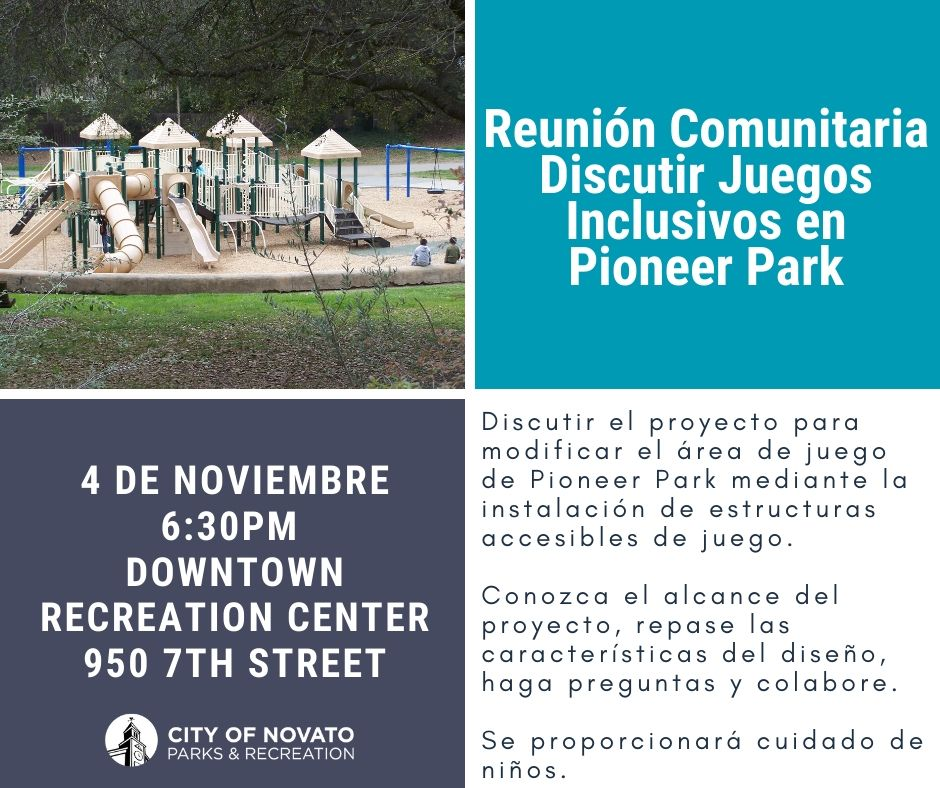 Image of Pioneer Park Meeting Flyer in Spanish